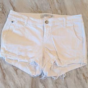 Torrid white cut off distressed Jean shorts 14